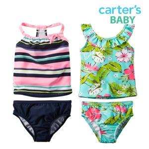 カーターズ 水着 女の子 タンキニ ベビー 子供 子供服 子供用水着 上下セット セパレート|bee8