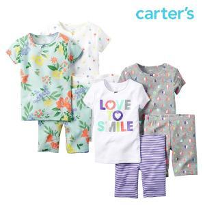 カーターズ パジャマ 半袖 上下セット 2枚セット ハーフパンツ キッズ 女の子 子供 子供服 春夏|bee8