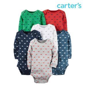 カーターズ ボディースーツ セット 男の子 ベビー 子供 子供服 長袖 6枚 ロンパース|bee8
