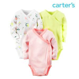 カーターズ ボディースーツ セット 女の子 ベビー 長袖 3枚 子供 子供服 おくるみ ロンパース|bee8