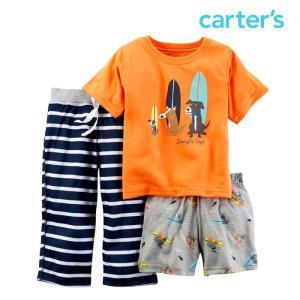 カーターズ Tシャツ ハーフパンツ 3点セット 男の子 ベビー 子供 子供服 半袖 スパッツ|bee8