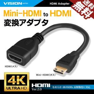 MiniHDMI to HDMI 変換アダプタ HDMI2.0対応 コンバータ ケーブル 1080P 4K 60Hz 16cm オス-メス 261031 送料無料 beebraxs