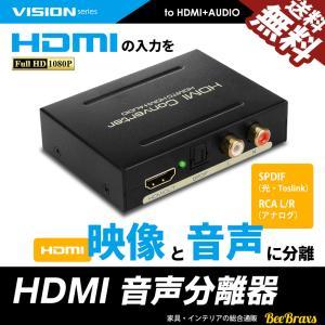 HDMI 音声分離器 分配器 光デジタル RCA 変換 コンバーター コンポジット 1080P 対応...