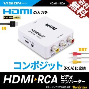 HDMI RCA 変換 コンバーター コンポジット 1080P 対応 アダプタ デジタル アナログ 送料無料 beebraxs