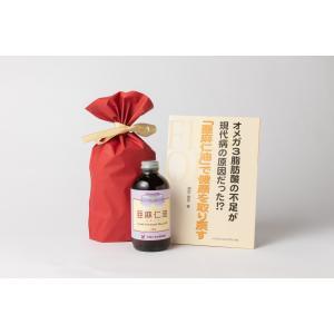 ギフト用フローラ社亜麻仁油解説冊子付/送料込 アマニ油|beeluck2007