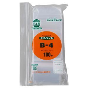 ユニパックB-4(300枚袋入)送料込/生産日本社/ミニグリップ beeluck2007