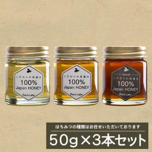 はちみつミニボトルお試しセット 50g×3本セット プレゼント用としても最適|beeslabo