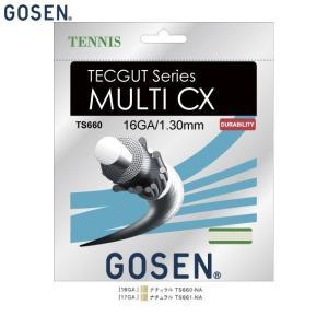 GOSEN/ゴーセン TS661 テニス ガット(国内) テックガット マルチ CX 17/TECG...