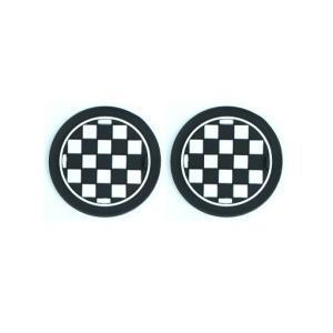 BMW MINI ドリンクホルダー用ラバーコースター チェッ...