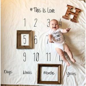 インスタなどで流行りのフォト撮影用のシーツです。  ・赤ちゃんの誕生日や記念日などに合わせて撮影でき...