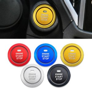 トヨタ・スバル・ダイハツ車対応のエンジンスタートボタンリング及びボタンカバー。 裏側が両面テープにな...