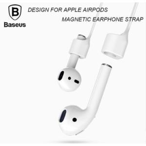 Appleの最新イヤフォンのAirpods用のマグネット付き落下防止シリコンストラップです。 通常の...