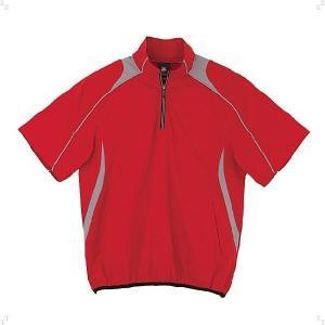 デサント(DESCENTE) STD465-RED (メンズ)半袖プルオーバーコート (STD465)(ベースボール)(ウィンドブレーカー)|beethree