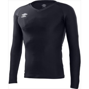 UMBRO(アンブロ) UAS9701L-BLK (メンズ サッカー・フットサルウェア) L/S パワーインナーVネックシャツ (UAS9701L) beethree