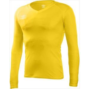 UMBRO(アンブロ) UAS9701L-YEL (メンズ サッカー・フットサルウェア) L/S パワーインナーVネックシャツ (UAS9701L) beethree