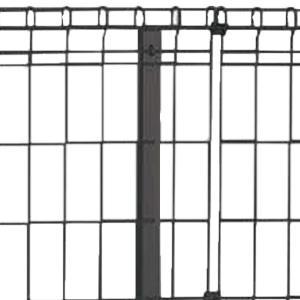 スチールメッシュフェンス【自由支柱タイプ】自由支柱(高800用)※NP1F専用オプション品※|beever