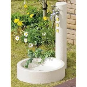 水栓柱 立水栓セット【ウォータービュー】キャスト水栓柱ポールL+丸型パンL beever