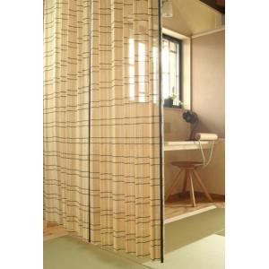 風を通し見た目にも涼しい。竹カーテン(ナチュラル) W100×H170cm(1枚)|beever