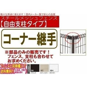 スチールメッシュフェンス【自由支柱タイプ】片開き門扉(W885×H1000)|beever|05