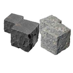 ピンコロ石1丁掛×12個セット Vグレ− 黒(バサルト)(90x90x90mm)