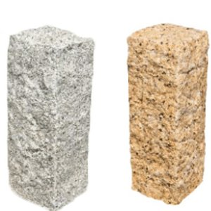 ピンコロ石 Vイエロ− Vホワイト3丁掛 ×20個入りセット