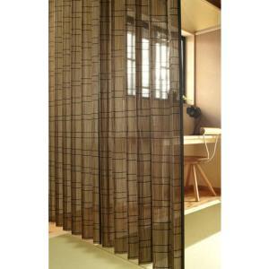 風を通し見た目にも涼しい。竹スダレカーテン(ブラウン) W100×H195cm(2枚組)|beever