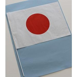 日の丸手旗(紙製) 日の丸ミドル 選挙 応援 イベント小旗|begifttuziyosi