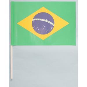 紙手旗・ブラジル国旗|begifttuziyosi