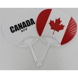 カナダ国旗うちわ begifttuziyosi