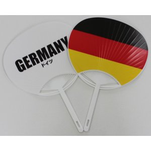 ドイツ国旗うちわ begifttuziyosi