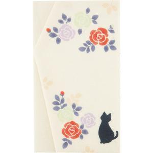 くろちく よそおい袱紗猫とバラ(別倉庫発送)|behatu