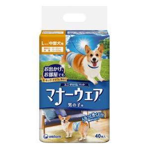 ユニ・チャーム マナーウェア 男の子用 Lサイズ 中型犬用 40枚 behatu