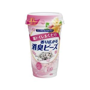 ユニチャーム 猫トイレまくだけ 香り広がる消臭ビーズ やさしいピュアフローラルの香り 450ml|behatu