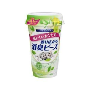 ユニチャーム 猫トイレまくだけ 香り広がる消臭ビーズ さわやかなナチュラルガーデンの香り 450ml|behatu