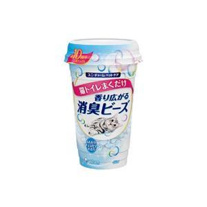 ユニチャーム 猫トイレまくだけ 香り広がる消臭ビーズ ふんわりナチュラルソープの香り 450ml|behatu