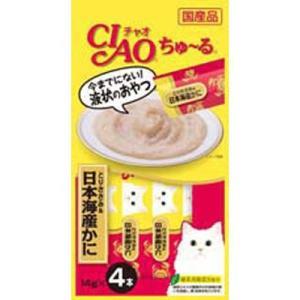 いなば CIAO(チャオ) ちゅ〜る とりささみ&日本海産かに 14g×4本 猫 おやつ|behatu
