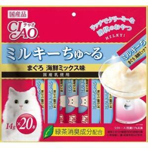 CIAOミルキーちゅ〜る 20本まぐろ 海鮮ミックス味 SC-183 (14g×10本)|behatu