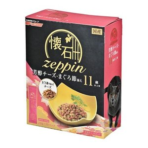 日清ペットフード 懐石zeppin 11歳以上用 芳醇チーズ・まぐろ節添え 200g behatu