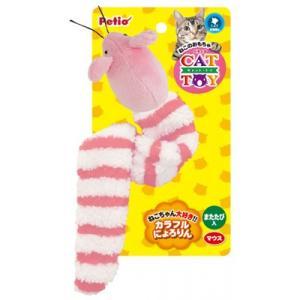 ペティオ CAT TOY カラフルにょろりん マウス|behatu