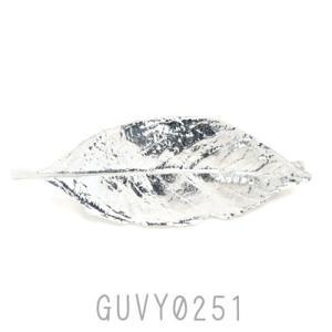 リーフモチーフ 葉っぱ バレッタ ロジウム GUVY0251|behatu