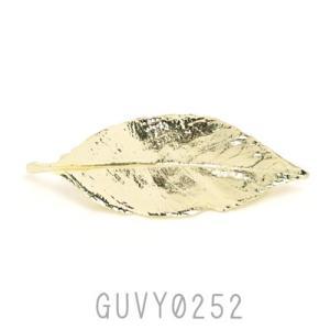 リーフモチーフ 葉っぱ バレッタ ゴールド GUVY0252|behatu