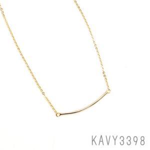 カーブライン ミニネックレス ゴールド KAVY3398|behatu