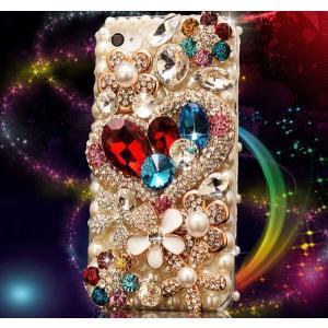 iPhone6 iphone6plus デコケース パール スワロフスキーiphone6s/6s plus キラキラケース iphone SE 5s アイフォン6ハードケース 人気 カバー スワロ ハート