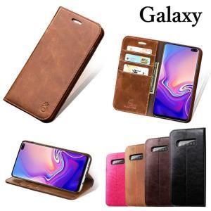 Galaxy S10 S10+ S9 S9+ S8 S8+ 手帳型ケース カード入れ お札入れ スタ...