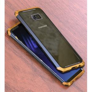 GalaxyS8 Galaxy S8+ ガラスケース アルミバンパー Glass 強化ガラス カバー レッド ギャラクシーs8 ギャラクシーS8+ 透明 クリアケース|beineix-store|04
