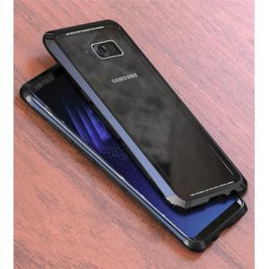 GalaxyS8 Galaxy S8+ ガラスケース アルミバンパー Glass 強化ガラス カバー レッド ギャラクシーs8 ギャラクシーS8+ 透明 クリアケース|beineix-store|06