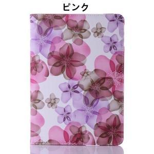 花柄 iPad air2ケース iPad airケース iPad mini 1/2/3 retina  ケース iPad 2/3/4ケース 360° 回転 カバー 墨絵 レザーケース かわいい 3段調整|beineix-store|04