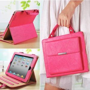 材質:PUレザー(合成皮革) お洒落なハンドバック式iPadケースです。 オートスリープ機能付き、大...