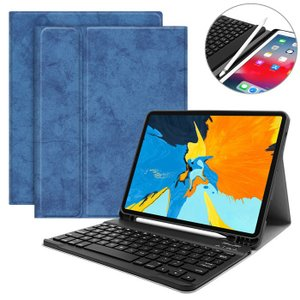 お洒落なウォッシュ加工風染めムラデザイン、 iPad用の着脱分離式キーボード付き保護ケース。 キーボ...