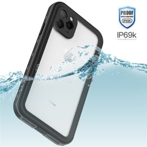 iPhone 11 Pro MAX ケース 完全防水 クリア 透明 ストラップ付き 防塵 耐衝撃 薄型 軽量 360°全面保護 アイホン11 プロ フルカバー 防水ケース アウトドア
